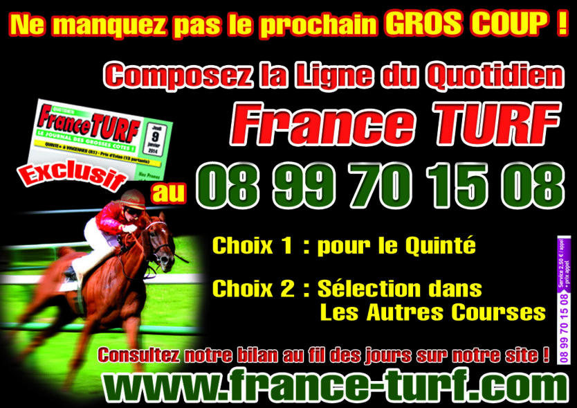 FRANCE TURF AU TELEPHONE