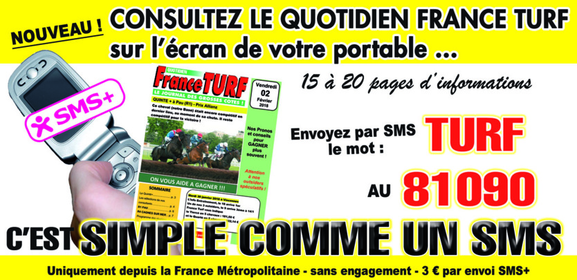 FRANCE TURF sans abonnement (SMS+)